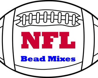 NFL Football Team AFC South and AFC West Colors for Beading, Size 6 seed beads, Are you ready for some Football?