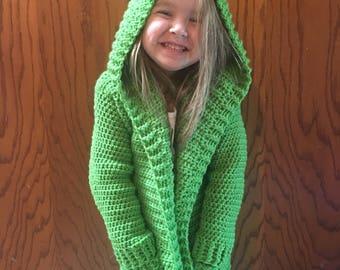 Crocheted oversized hooked sweater