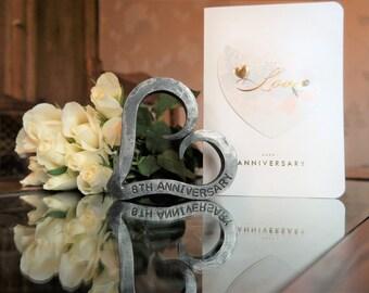 6th Anniversary Heart - Iron Anniversary - Personalised Anniversary Gift - Valentine - Wedding - Blacksmith Made