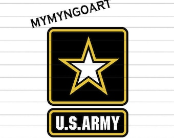 U.S Army Svg, Eps, Dxf, Pdf, Png, Jpe for Cricut and Silhouette-Digital Download.