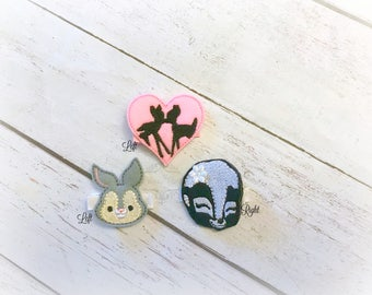 Bambi inspired hair clip Movie inspired clip Pick Left side or Right.