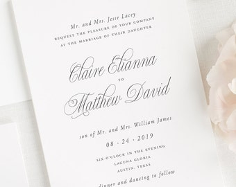 Garden Elegance Wedding Invitations - Deposit