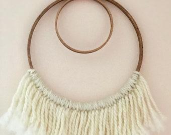 Modern, boho style, yarn wall hanging