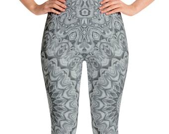 Marble Leggings High Waist Yoga Pants, Women's Printed Leggings, Unique Mandala Leggings