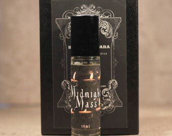 MIDNIGHT MASS Handmade Artisan Perfume Oil -Church Incense Perfume - Dark Gothic Perfume Oil - Winter Perfume - Earthy Winter Fragrance