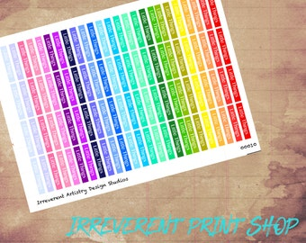 Rainbow Header Little Things Stickers