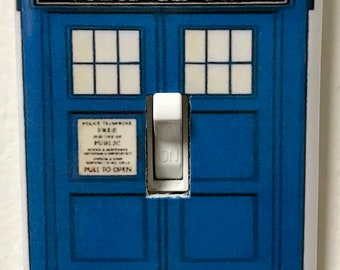 Light Switch Cover Doctor Who Tardis Police Box