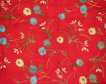 Flowers On Red, a Throw Quilt With Pizzazz!