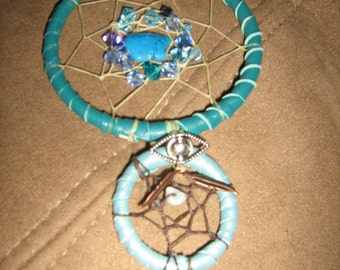 Turquoise Car Charm Zuni Totem Bears Dreamcatcher popular Car Charms Dreamcatcher  Native American inspired decoration for your home or car