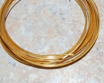 21 Gauge Square Gold Craft Wire