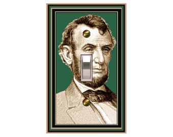 0733X - Abraham Lincoln light switch plate cover - mrs butler switchplates - choose sizes / prices from drop down box