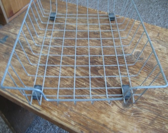 """Pair of VINTAGE WIRE BASKETS for desktop/papers**Could be used to store anything, anywhere**Each basket is in great condition**11""""x14""""x3"""""""