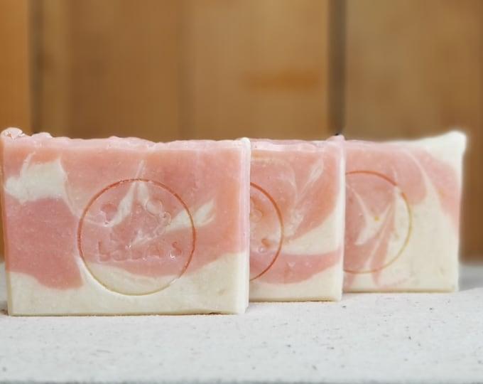 "Magnolia Scented Soap ""Miranda"" Soap Goddess Loves Shakespeare Soap, vegetarian, lightly scented, yogurt soap, free shipping"