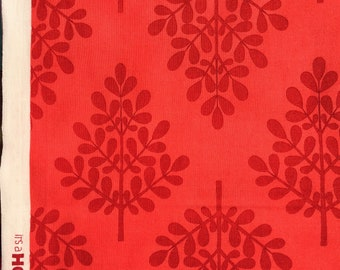 MoMo It's A Hoot Trees red moda fabrics FQ Washed