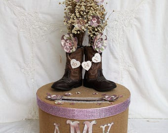 Country Wedding Decorations, Rustic Wedding Card Box, Rustic Card Box, Barn Wedding Decorations, Bridal Shower Card Box, Wedding Card Box