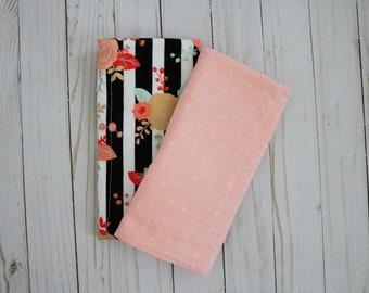 Floral Burp Cloths | Baby Girl Set