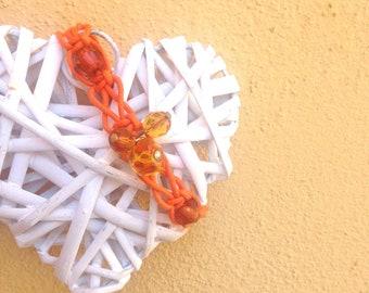 Shamballa Orange Orange Bracelet