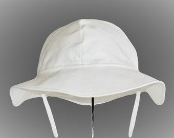 Baby Sun Hat, Newborn Hat, Toddler Sun Hat, Boy Or Girl Cotton Hat in White, Yellow, Or Pink, Summer Hat, Floppy Hat, Infant, Baby Gift