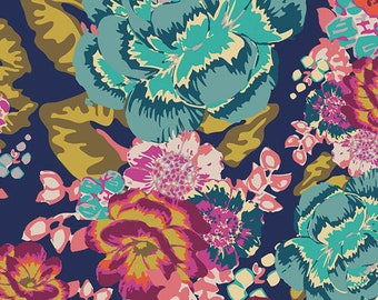 KNIT Fabric by the Yard -  Acqua Di Rose Boho