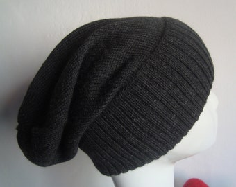 Noble Beanie Hat, Longmütze made of finest alpaca wool, 100% baby Alpaca