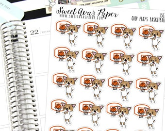 Baseketball Planner Stickers - Sports Planner Stickers - Practice Planner Stickers - Mom Stickers - Dog Planner Stickers  - 1557