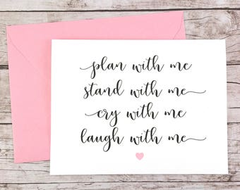 Plan With Me Stand With Me Card, Bridesmaid Card, Maid of Honor Card, Matron of Honor Card, Bridesmaid Proposal - (FPS0005)