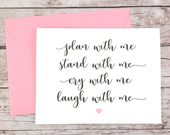 Plan With Me, Stand With Me, Cry With Me, Laugh With Me Card (FPS0005)