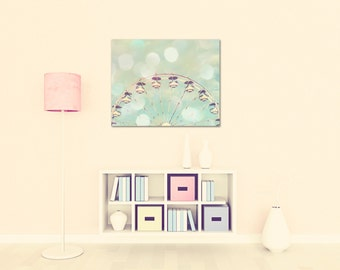 ferris wheel canvas large wall art nursery decor pastels baby girl nursery art mint peach art nursery fine art