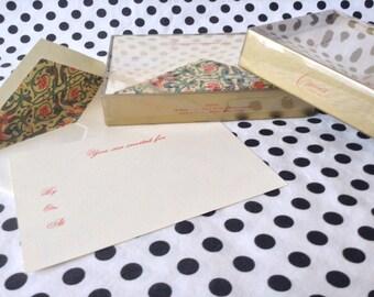 C.1970's~Vintage Crane~Invitation~Card~Box Set of Ten~Golden Garden~Sealed