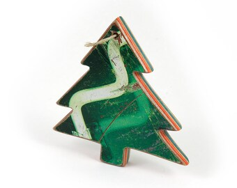 Recycled Skateboard Christmas Tree Ornament