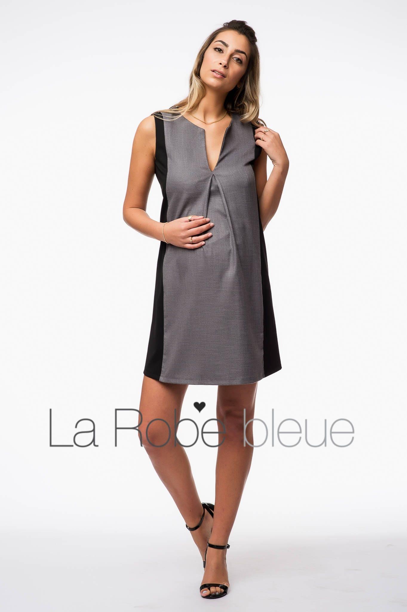 Colorblock maternity dress gray and black dress chic description a versatile colorblock maternity dress ombrellifo Gallery