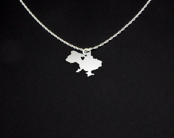 Ukraine Necklace - Ukrain Jewelry - Ukraine Gift