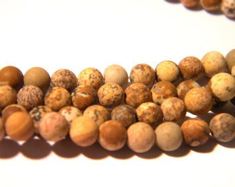 22 bead - 4 mm frosted Jasper - Jasper frosted - gems stones - raw effect - H38