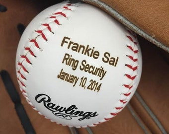 Ring Bearer Gift/Personalized Baseball/Groomsman Gift/Engraved Baseball/Gift for Ring Bearer/Best Man Gift/Birth Announcement/