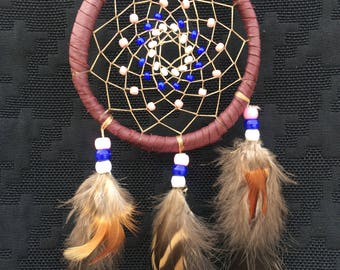 Native American handcrafted dream catcher.