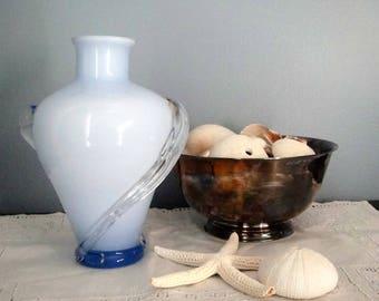 Elegant and petite hand blown glass vase