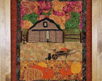 Fall Harvest - Applique  - Art Quilt PDF E-Pattern