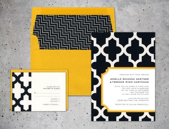 Wedding Invitations In Canada: Modern Wedding Invitation Multiple Pattern Invitation