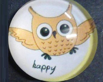 "pretty OWL ""happy"", 25mm"