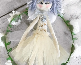 Handmade Cloth Fairy Doll about 31 cm tall by NoosaForestFairies