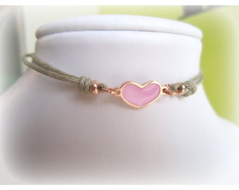 Bracelet in silver 925 plated rose gold
