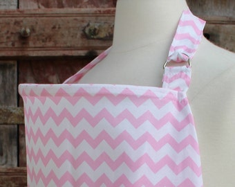Beautiful Nursing Cover-Light Pink Chevron-Free Shipping When Purchased With A Wrap
