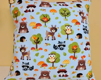 Woodland Pillow Cover, Woodland Creatures Baby Shower, Woodland Creatures Nursery, Woodland Nursery Decor, Woodland Baby Shower,Pillow Cover