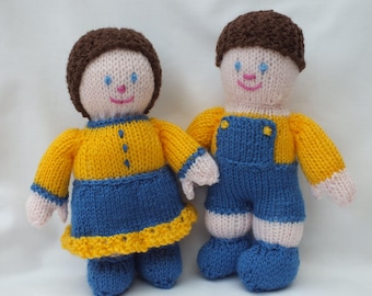 Hand knitted dolls, Jack and Jill Children's Nursery Gifts
