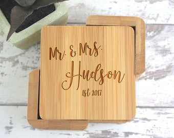 Wood Coasters, Personalized Gift, Wedding Gift, Wooden Coasters, Wedding Gifts, Gift For Couple, Wedding Shower Gift, Personalized Coasters,