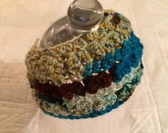 Crocheted Variegated Cotton Yarn Headband