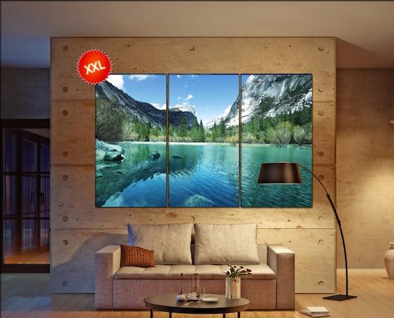Yosemite lake  canvas Yosemite lake wall decoration Yosemite lake canvas art Yosemite lake large canvas  wall decor