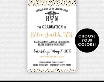 Nurse Invitation Nurse Graduation Invitation Nursing