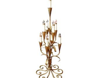 Gilded Ornate Table Top Chandelier