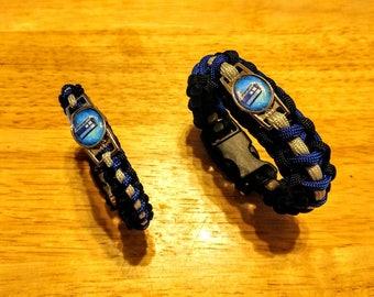 Doctor Who Inspired TARDIS Paracord Bracelet